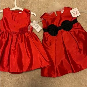TWO Red baby Holiday Dresses!!